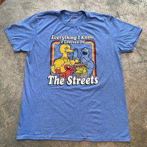 Vintage Style Sesame Street T-Shirt Large